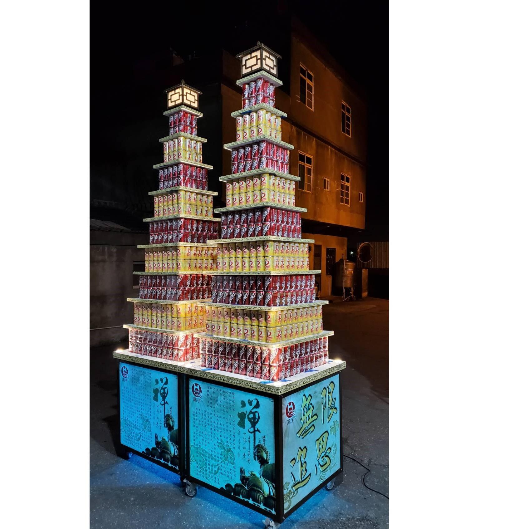 9層大品牌864罐燈光塔
