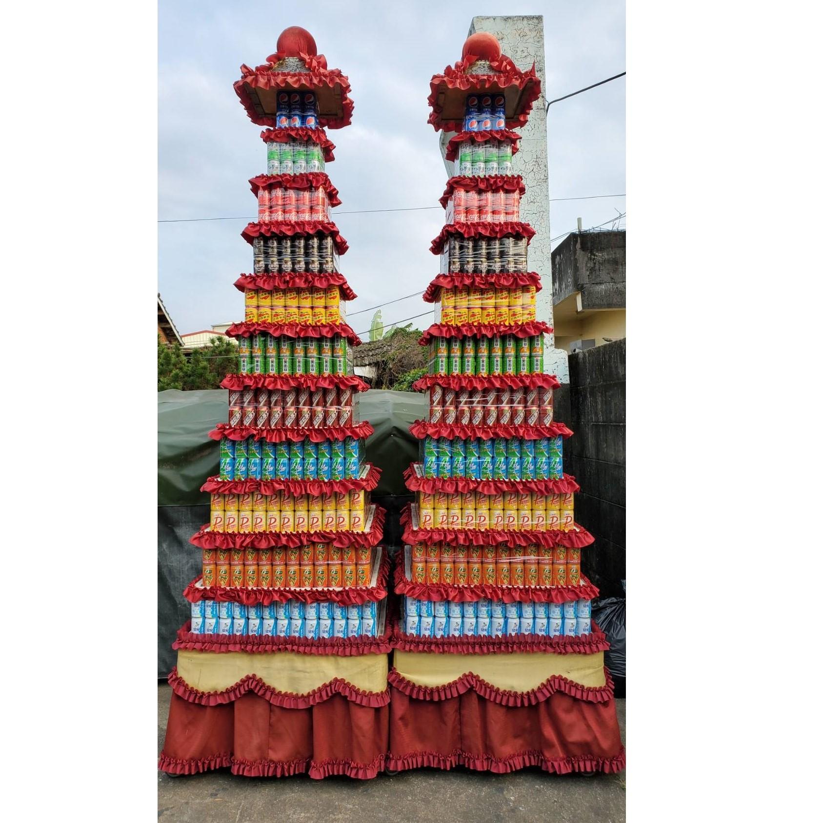 11層大品牌1232罐罐頭塔