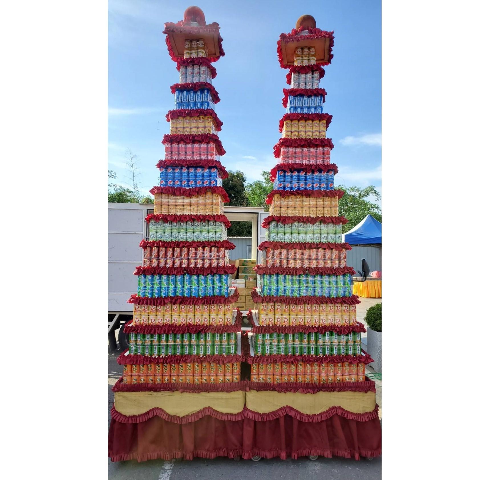 13層大品牌1664罐罐頭塔