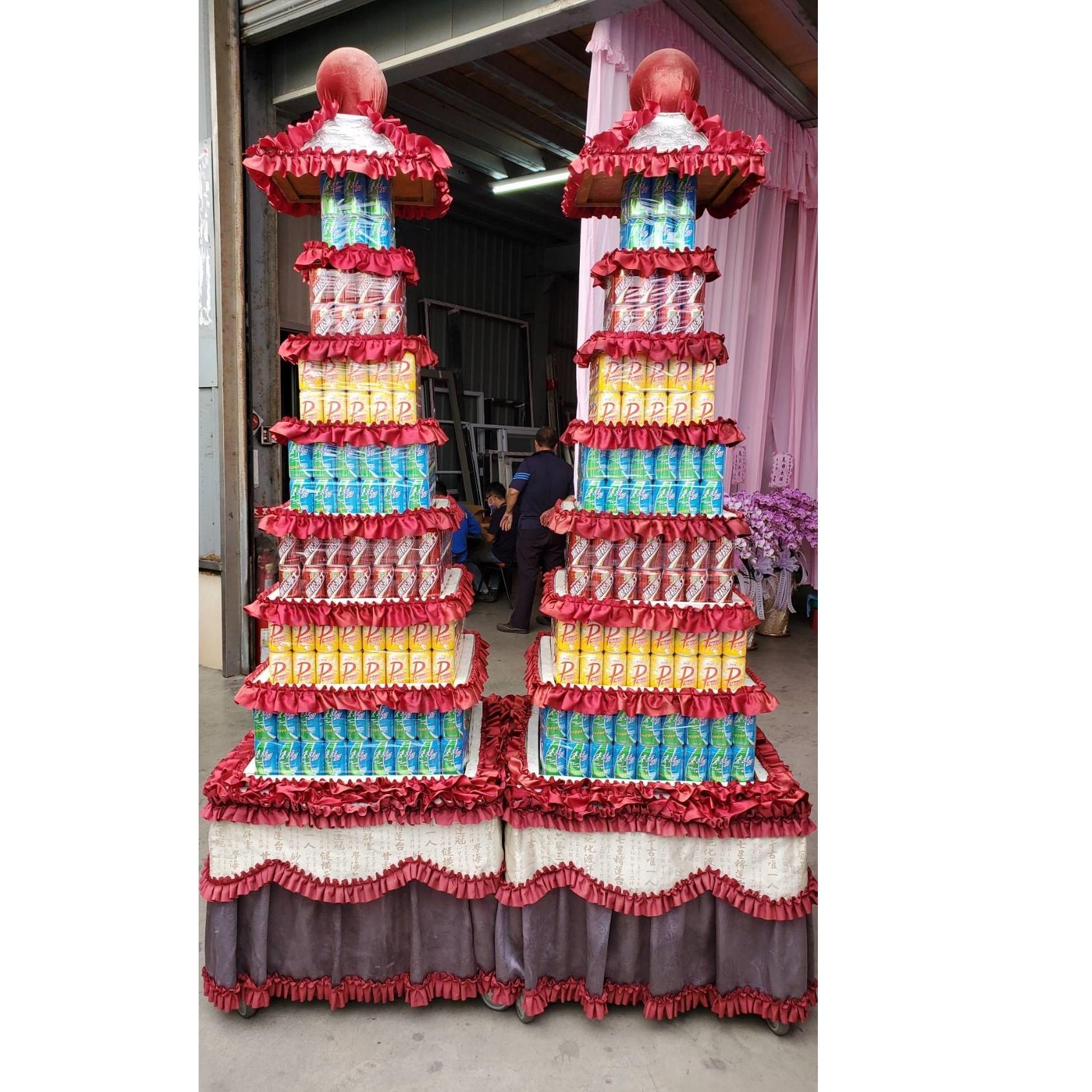 7層大品牌560罐罐頭塔