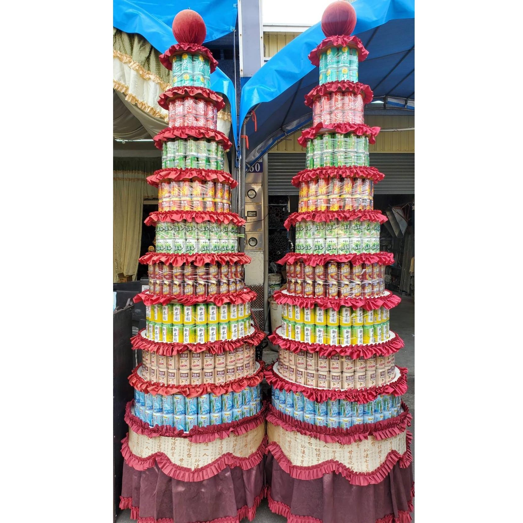 9層普通品牌768罐罐頭塔