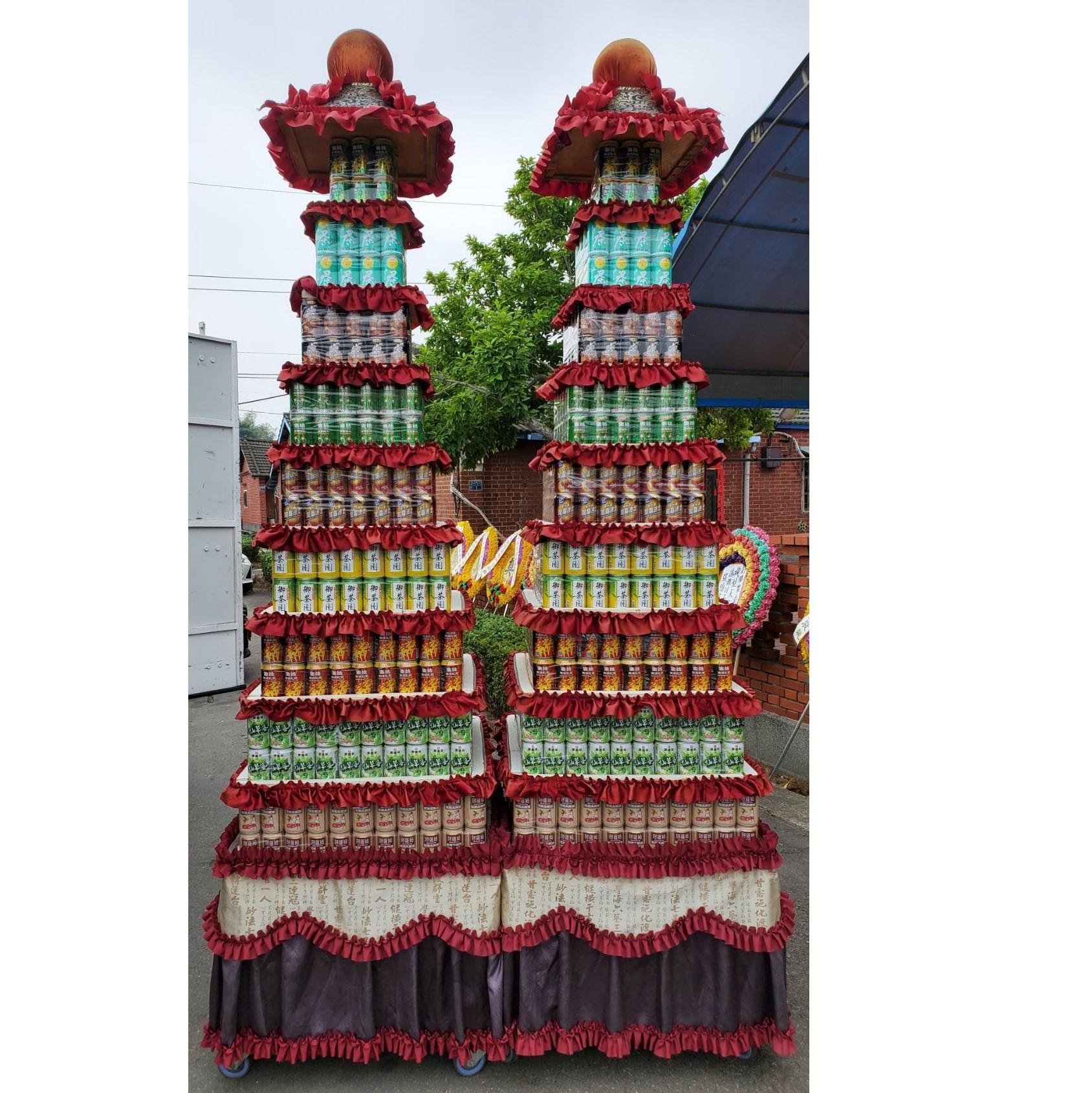 9層普通品牌864罐罐頭塔