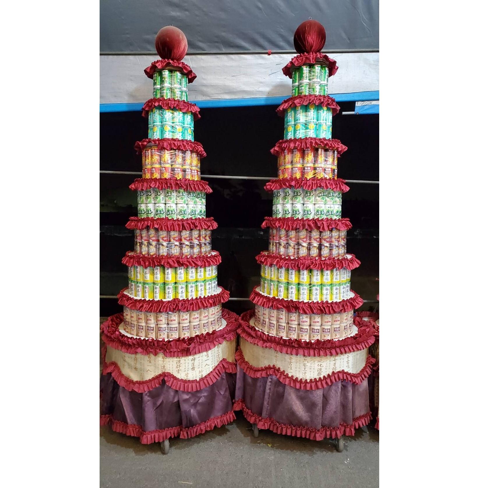 7層普通品牌504罐罐頭塔