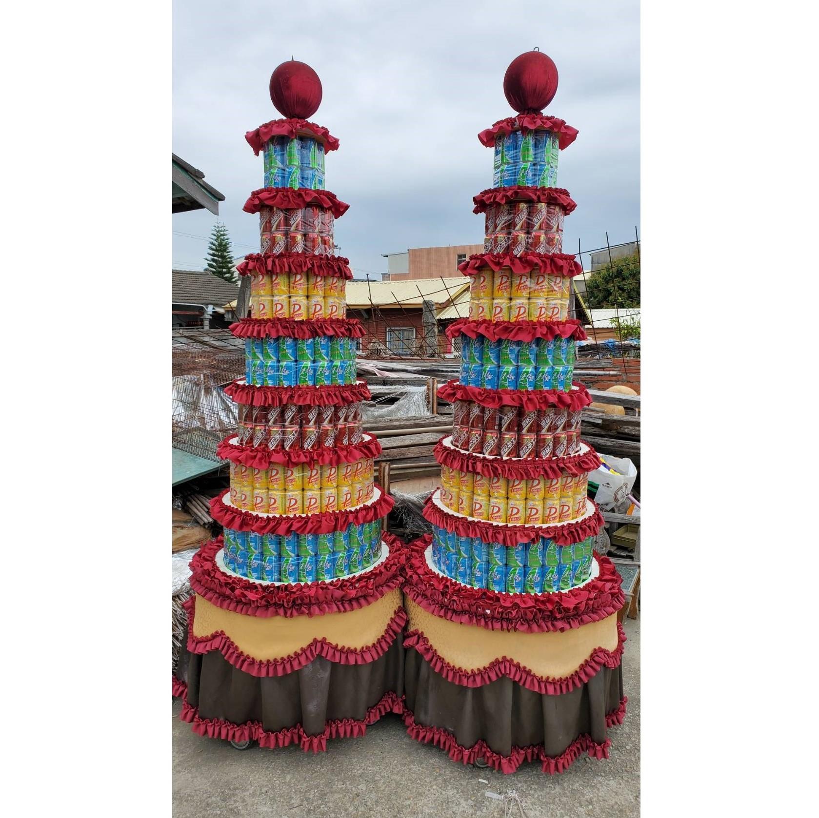 7層大品牌504罐罐頭塔