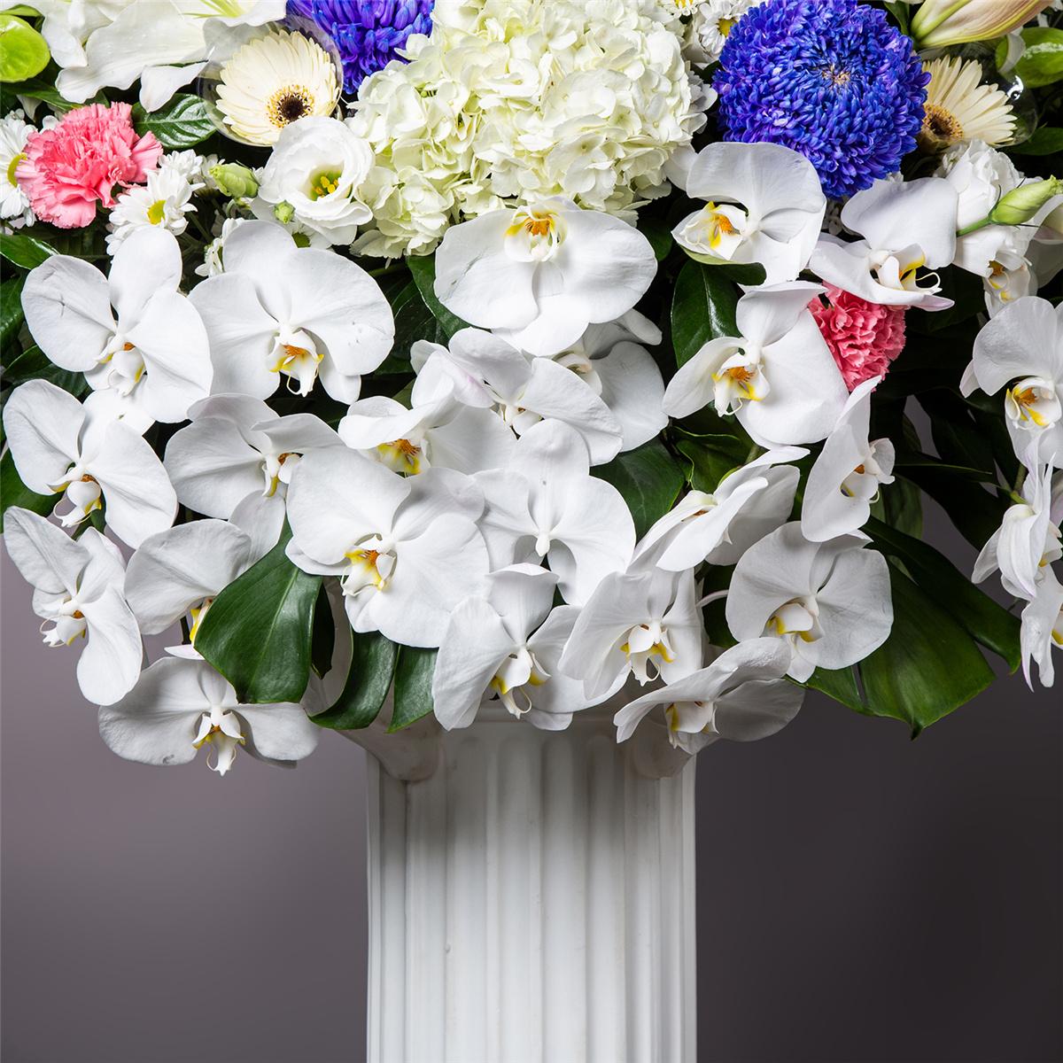 追思蘭花藝術羅馬柱花籃